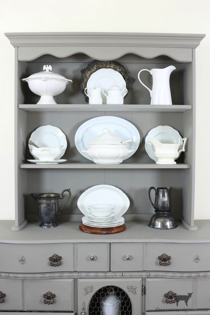 Tips-for-Styling-a-Dining-Room-Hutch-The-Crowned-Goat-15 Eight Easy Tips for Styling a Dining Room Hutch Decorating Loblolly_Manor