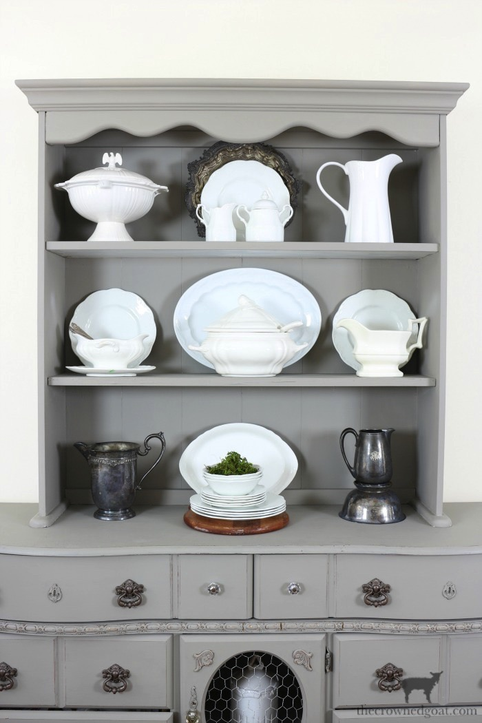 Tips-for-Styling-a-Dining-Room-Hutch-The-Crowned-Goat-16 Eight Easy Tips for Styling a Dining Room Hutch Decorating Loblolly_Manor