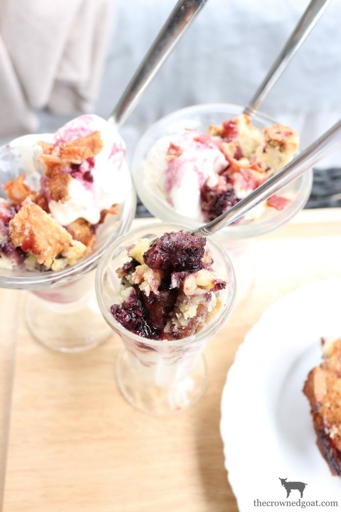 Blackberry-Pound-Cake-Sundaes-The-Crowned-Goat-14 Blackberry Pound Cake Sundaes Baking Summer