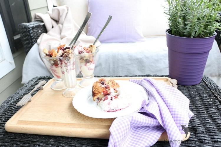 Blackberry-Pound-Cake-Sundaes-The-Crowned-Goat-15 Blackberry Pound Cake Sundaes Baking Summer
