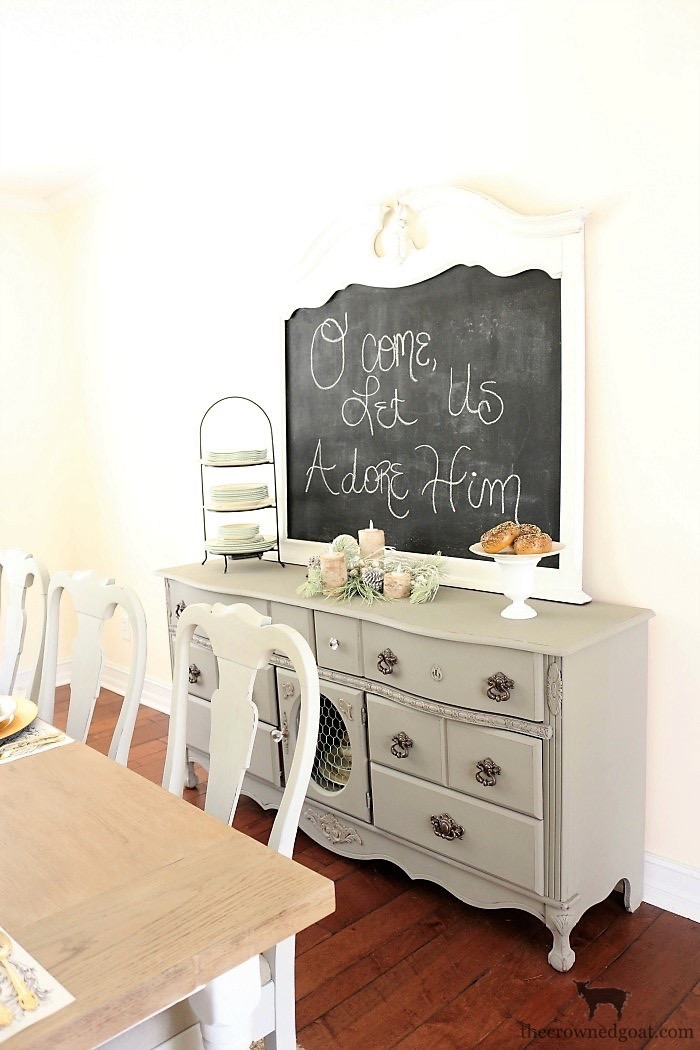 Creating-a-Chalkboard-From-a-Mirror-The-Crowned-Goat-5 Creating a Chalkboard from a Mirror Decorating Loblolly_Manor