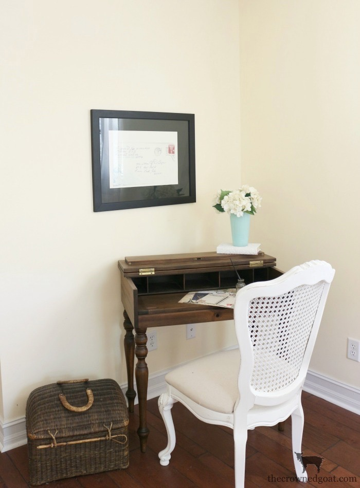 French-Linen-Kitchen-Desk-Makeover-The-Crowned-Goat-2 Loblolly Manor: Adding a Desk to the Kitchen Loblolly_Manor Painted Furniture