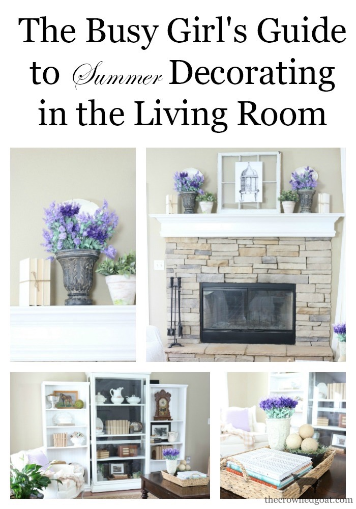 Summer-Decorating-Ideas-Living-Room-The-Crowned-Goat-3 The Busy Girl's Guide to Summer Decorating: The Living Room Decorating Summer