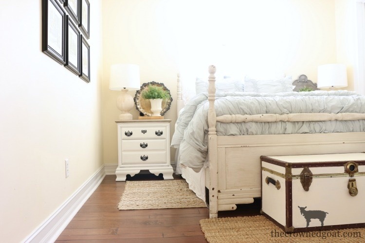 French-Linen-and-Pure-White-Painted-Nightstand-The-Crowned-Goat-21 Loblolly Manor: Guest Bedroom Nightstands Decorating Loblolly_Manor Painted Furniture