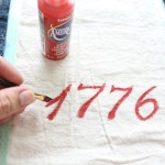 Patriotic Inspired Grain Sack Table Runner