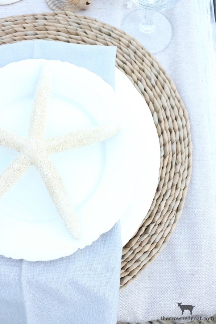 Coastal-Inspired-Tablescape-The-Crowned-Goat-8 Coastal Inspired Tablescape Decorating Summer