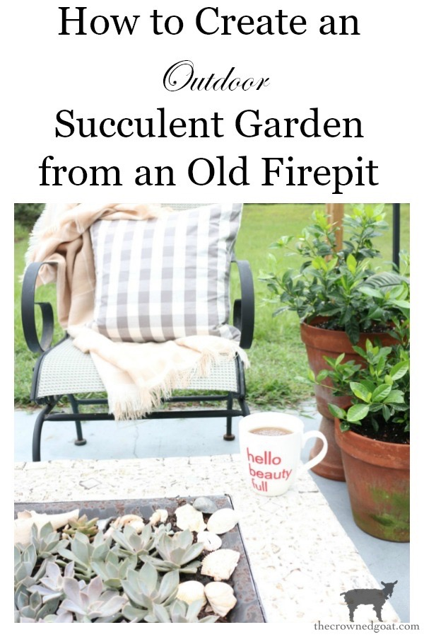 How-to-Create-an-Outdoor-Succulent-Garden-From-an-Old-Firepit-The-Crowned-Goat-18 Don't Trash Your Old Firepit DIY Summer