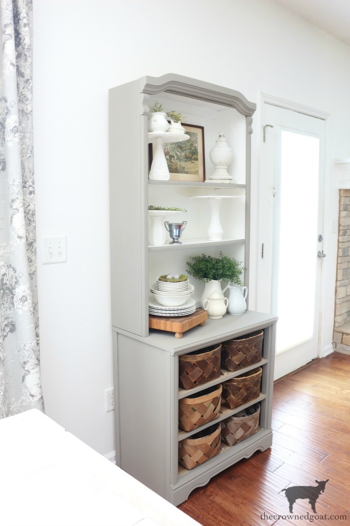 French-Linen-Hutch-Makeover-The-Crowned-Goat-18 French Linen Hutch Makeover DIY Painted Furniture