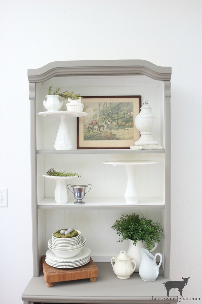 French-Linen-Hutch-Makeover-The-Crowned-Goat-19 French Linen Hutch Makeover DIY Painted Furniture