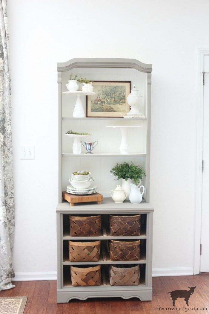 French-Linen-Hutch-Makeover-The-Crowned-Goat-20 French Linen Hutch Makeover DIY Painted Furniture