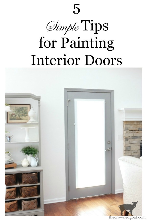 Simple-Door-Painting-Tips-The-Crowned-Goat-15 Simple Tips for Painting Interior Doors DIY