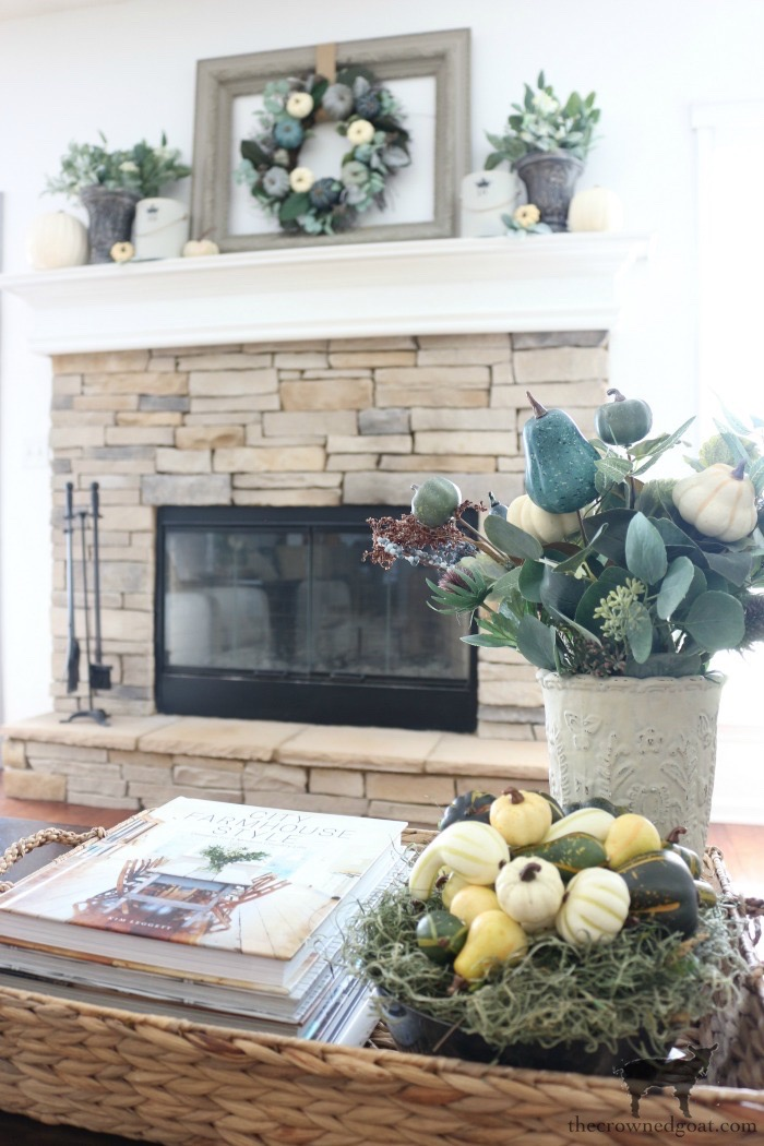 Fall-Inspired-Living-Room-Mantel-The-Crowned-Goat-15 Fall Inspired Living Room and Mantel Decorating DIY Fall