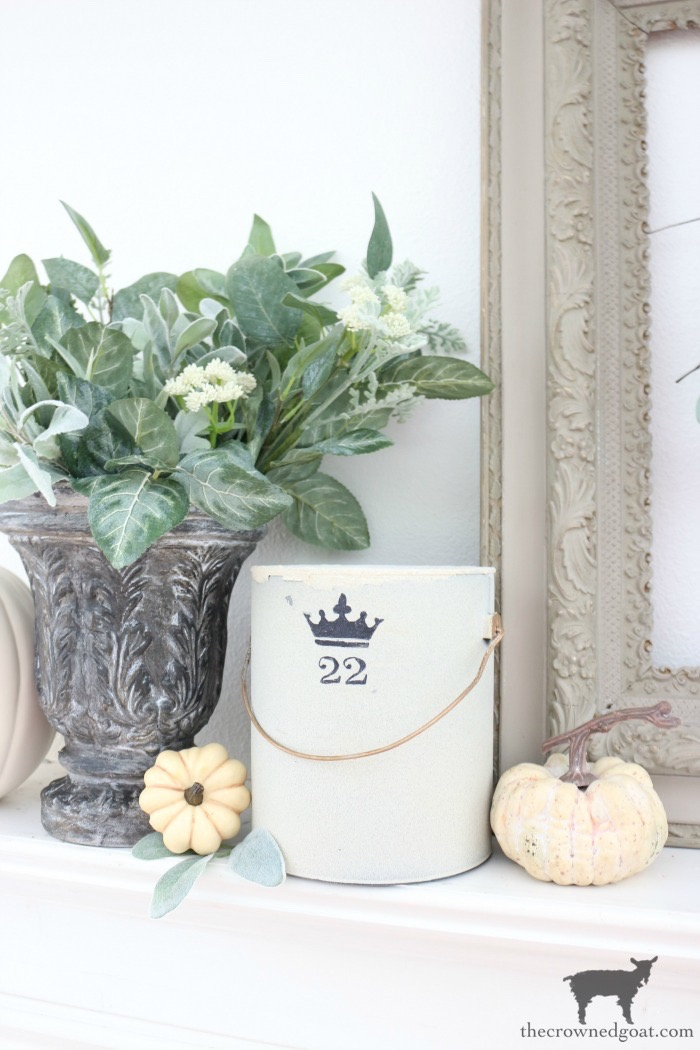 Fall-Inspired-Mantel-The-Crowned-Goat-2 Fall Inspired Living Room and Mantel Decorating DIY Fall