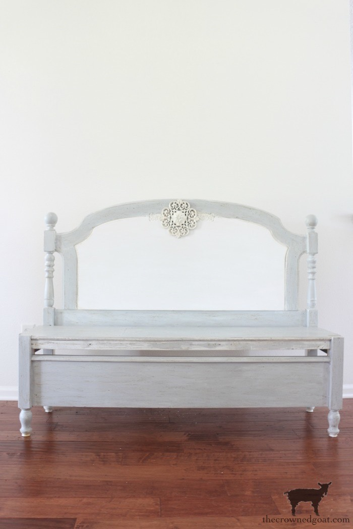 French-Farmhouse-Bench-Makeover-The-Crowned-Goat-11 French Farmhouse Inspired Bench Decorating DIY Painted Furniture