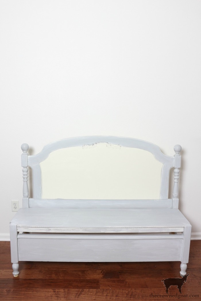 French-Farmhouse-Bench-Makeover-The-Crowned-Goat-4 French Farmhouse Inspired Bench Decorating DIY Painted Furniture