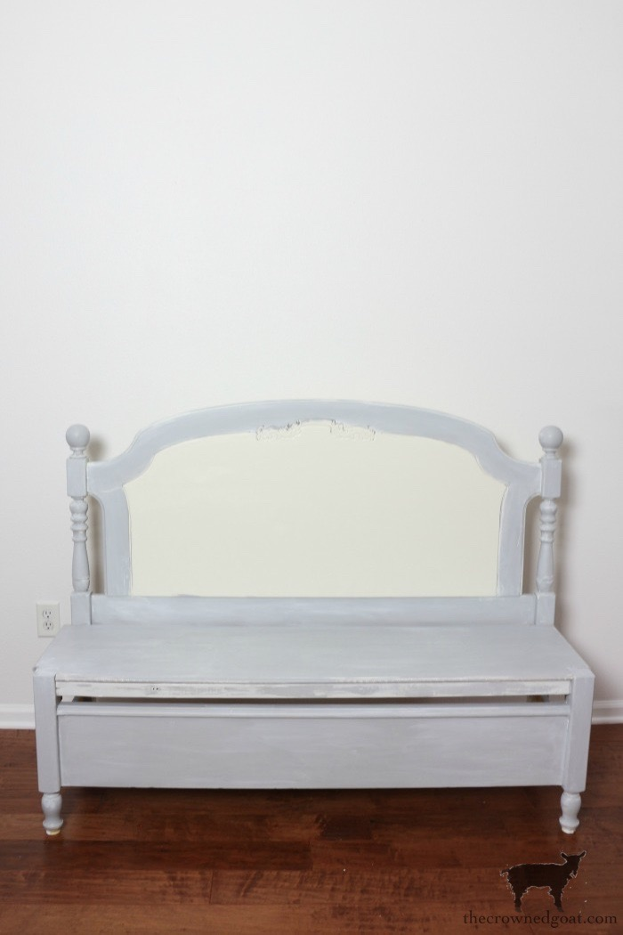 French-Farmhouse-Bench-Makeover-The-Crowned-Goat-5 French Farmhouse Inspired Bench Decorating DIY Painted Furniture