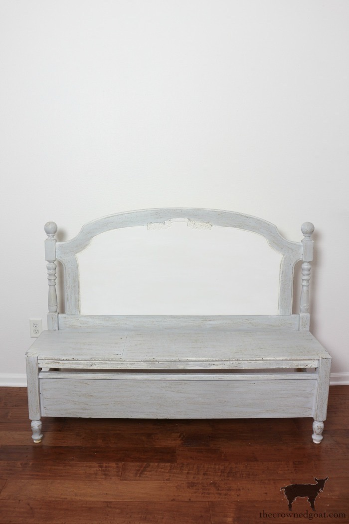 French-Farmhouse-Bench-Makeover-The-Crowned-Goat-6 French Farmhouse Inspired Bench Decorating DIY Painted Furniture