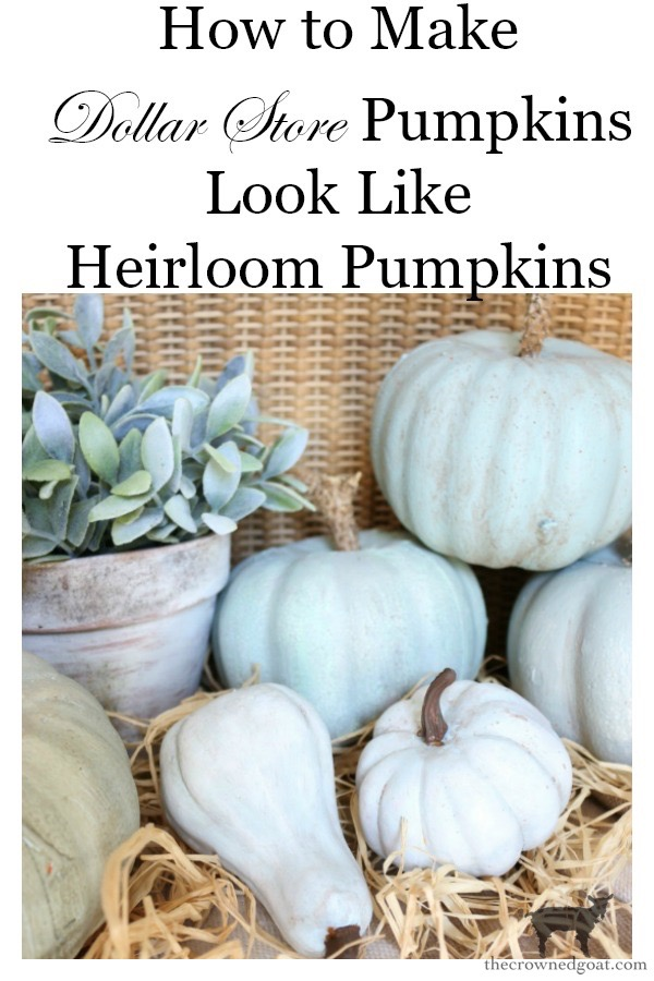 How-to-Make-Dollar-Store-Pumpkins-Look-Like-Heirloom-Pumpkins-The-Crowned-Goat-17 Make Your Own Heirloom Pumpkins Crafts DIY Fall