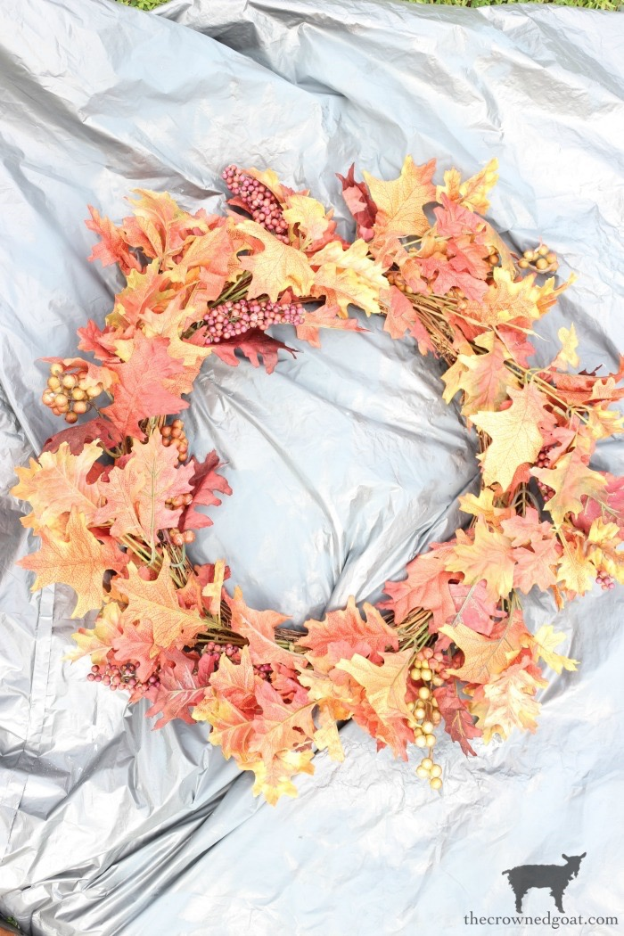How-to-Repurpose-an-Old-Fall-Wreath-The-Crowned-Goat-1 How to Repurpose an Old Fall Wreath Decorating DIY Fall