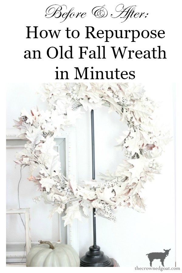 How-to-Repurpose-an-Old-Fall-Wreath-The-Crowned-Goat-13 How to Repurpose an Old Fall Wreath Decorating DIY Fall