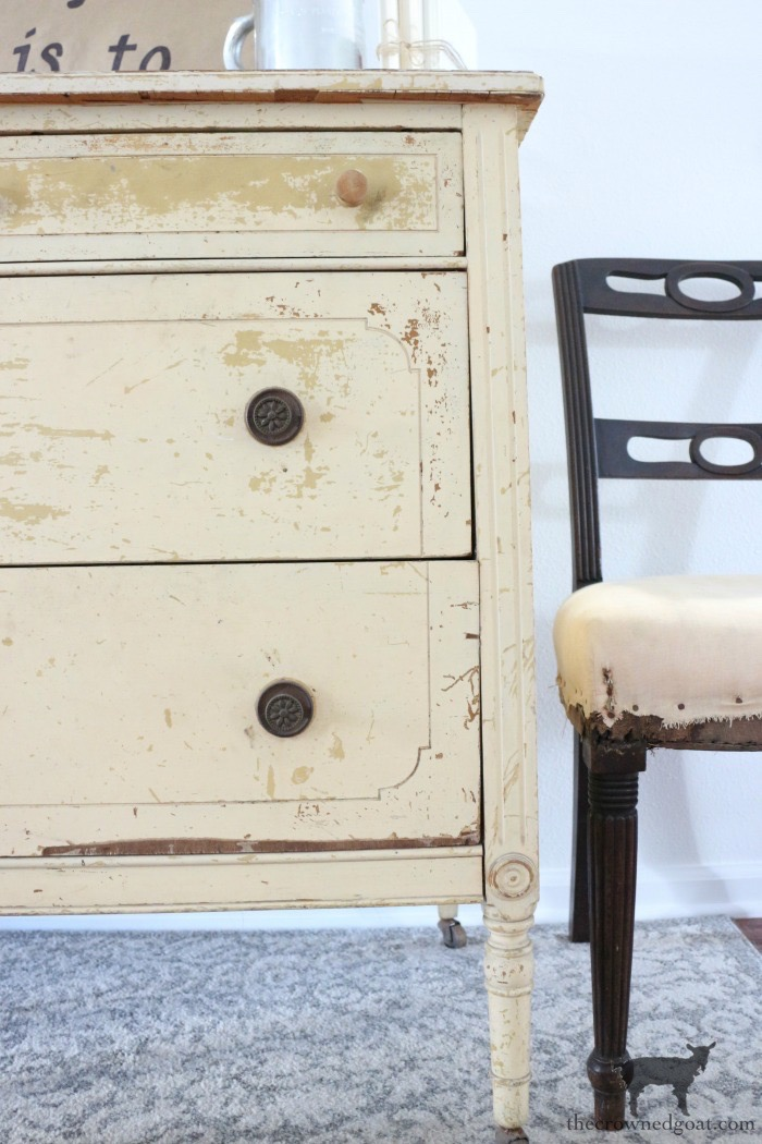 Marzipan-Milk-Paint-Dresser-The-Crowned-Goat-1 Miss Mustard Seed Milk Paint Dresser in Marzipan DIY Painted Furniture