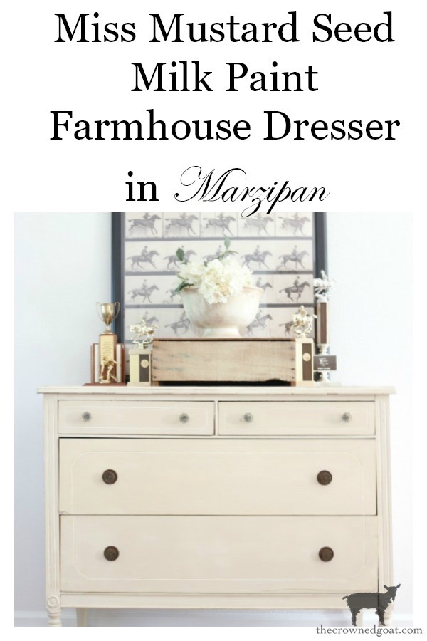 Marzipan-Milk-Paint-Dresser-The-Crowned-Goat-22 Miss Mustard Seed Milk Paint Dresser in Marzipan DIY Painted Furniture
