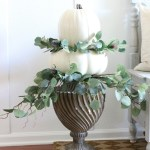 Simple Stacked Pumpkin Topiary with Eucalyptus