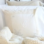 Vintage Monogrammed No Sew Pillows