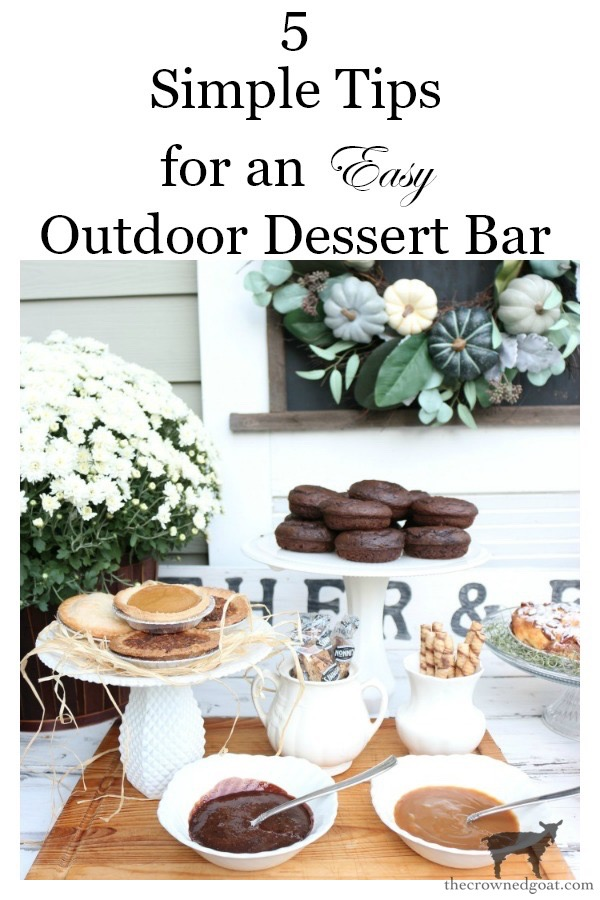 Easy-Outdoor-Fall-Dessert-Bar-The-Crowned-Goat-12 Fall Inspired Outdoor Dessert Buffet Fall