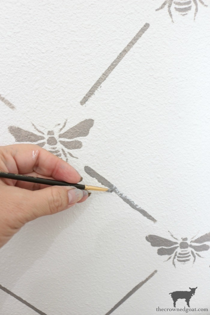 How-to-Stencil-Textured-Walls-The-Crowned-Goat-21-1 How to Stencil Textured Walls DIY One_Room_Challenge