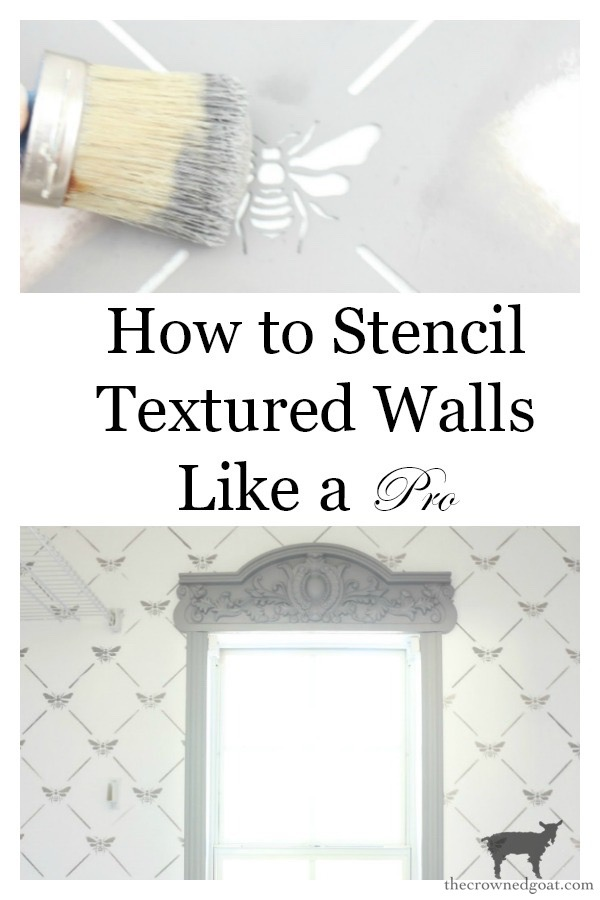 How-to-Stencil-Textured-Walls-The-Crowned-Goat-27-1 How to Stencil Textured Walls DIY One_Room_Challenge