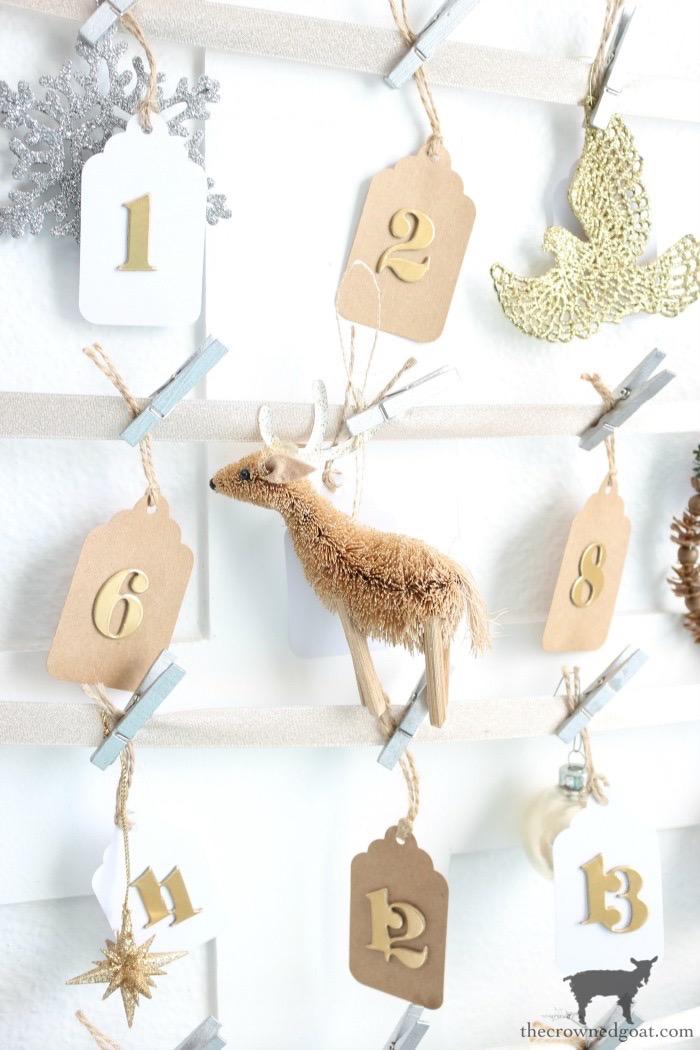 Antique-Picture-Frame-Advent-Calendar-The-Crowned-Goat-12 Antique Picture Frame Advent Calendar Christmas DIY