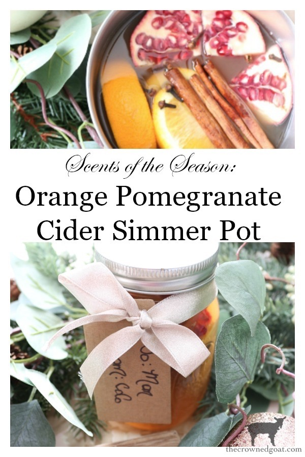 Orange-Pomegranate-Cider-Simmer-Pot-The-Crowned-Goat-9 Orange Pomegranate Cider Simmer Pot Christmas Holidays