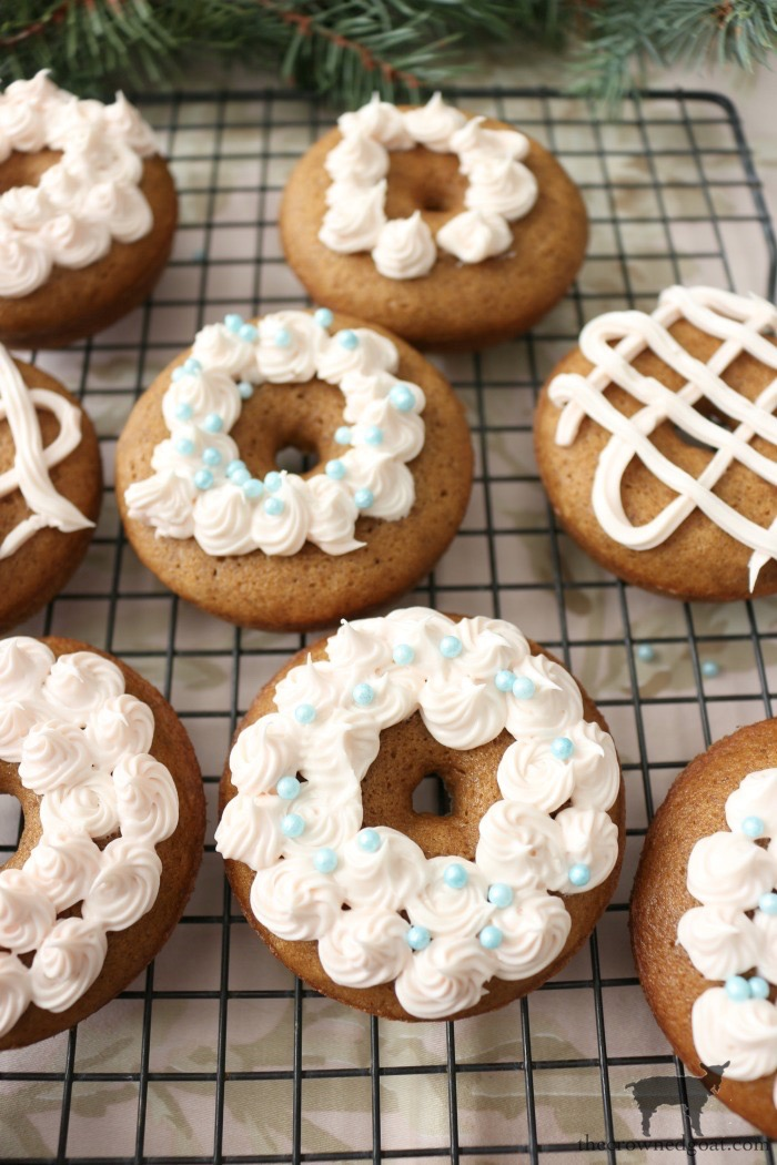 Quick-Easy-Gingerbread-Donuts-The-Crowned-Goat-12 Quick & Easy Gingerbread Cake Donuts Baking Christmas Holidays