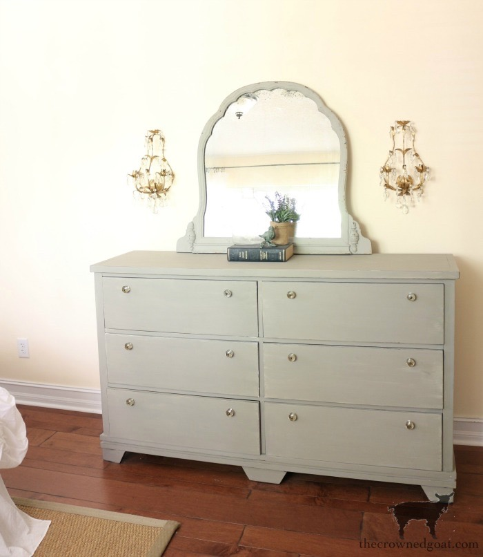 Annie-Sloan-Chalk-Paint-French-Linen-Dresser-Makeover-The-Crowned-Goat-2 Loblolly Manor: Pure White Dresser Makeover Loblolly_Manor Painted Furniture