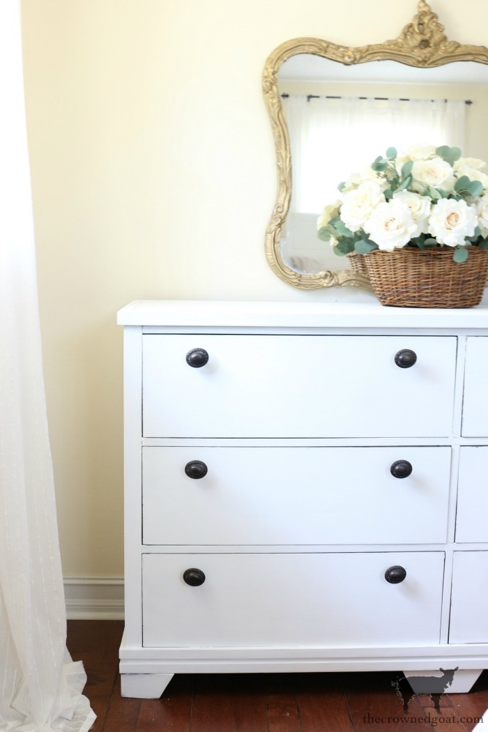 Annie-Sloan-Chalk-Paint-Pure-White-Dresser-Makeover-The-Crowned-Goat-10-1 From the Front Porch From the Front Porch