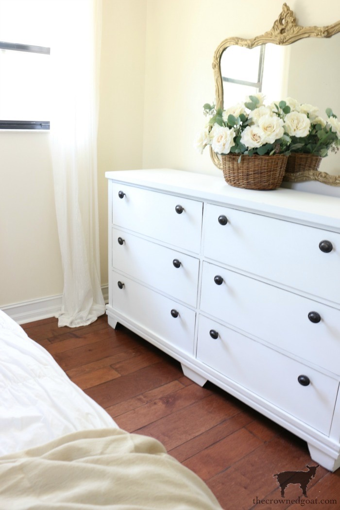 Annie-Sloan-Chalk-Paint-Pure-White-Dresser-Makeover-The-Crowned-Goat-9 Loblolly Manor: Pure White Dresser Makeover Loblolly_Manor Painted Furniture