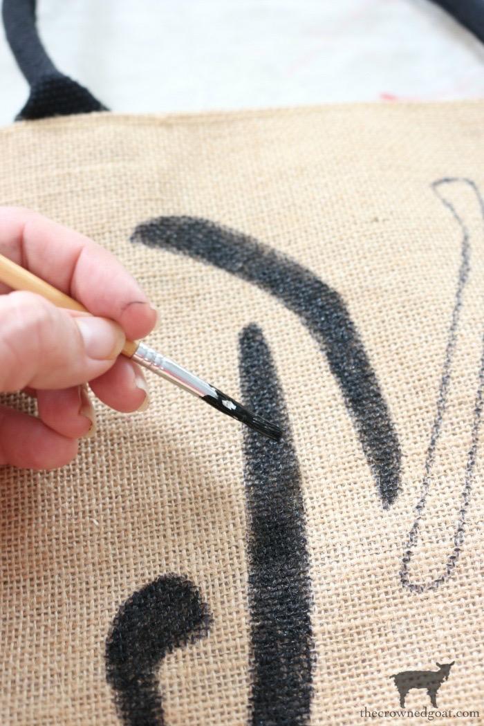 DIY-Monogrammed-Tote-The-Crowned-Goat-11 DIY Monogrammed Market Tote Crafts DIY