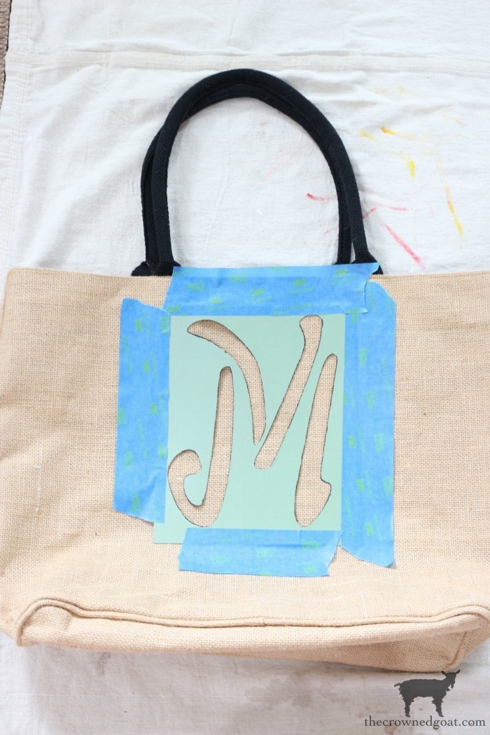 DIY-Monogrammed-Tote-The-Crowned-Goat-8 DIY Monogrammed Market Tote Crafts DIY
