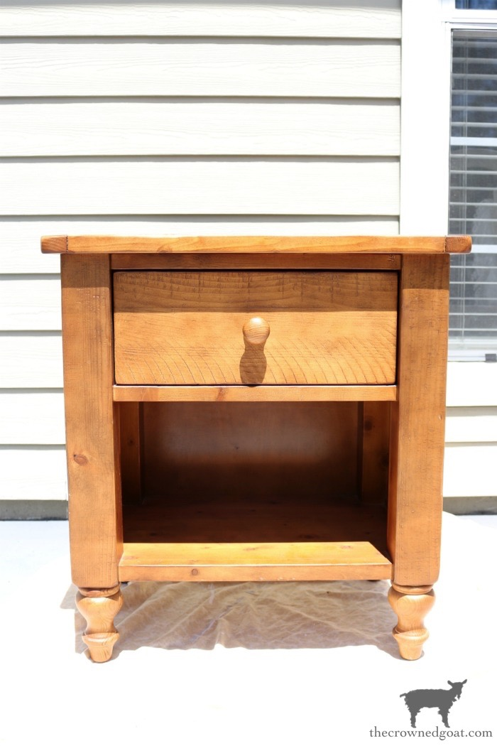 French-Linen-Nightstand-Makeover-The-Crowned-Goat-3 French Linen Nightstand Makeover Decorating DIY Painted Furniture