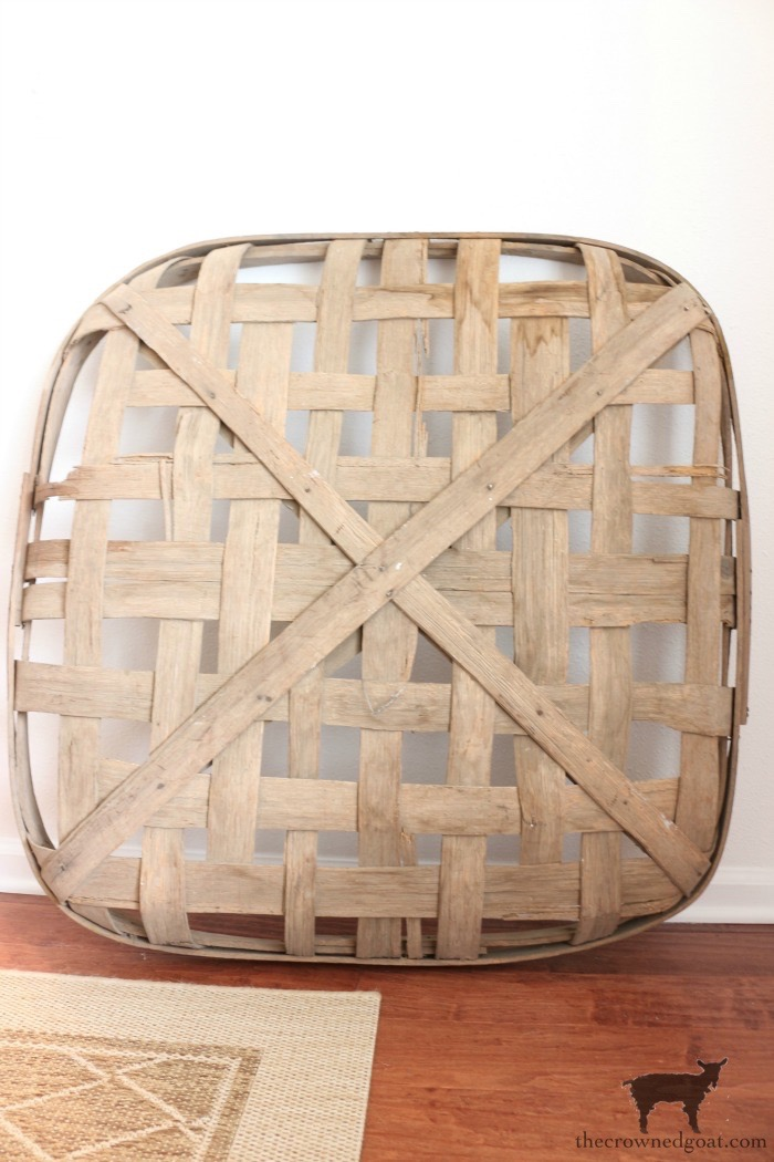 How-to-Revitalize-an-Old-Tobacco-Basket-The-Crowned-Goat-5 The Easiest Way to Revitalize an Old Tobacco Basket Decorating DIY