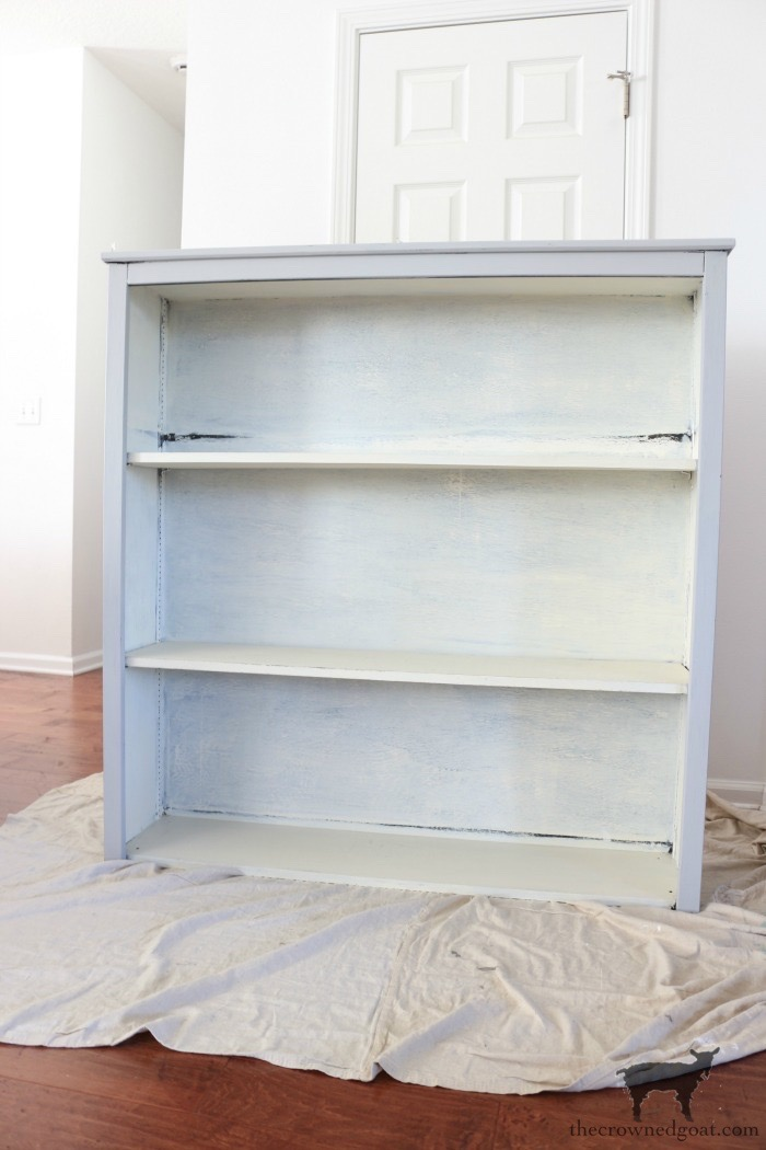 Paris-Grey-Hutch-Makeover-The-Crowned-Goat-3 Paris Grey Hutch Makeover Decorating Painted Furniture