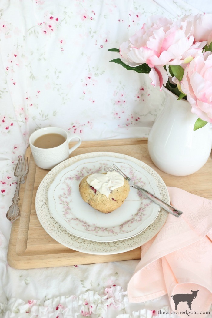 Strawberry-Almond-Scone-Recipe-The-Crowned-Goat-1 Strawberry Almond Scone Recipe Baking Holidays Valentines