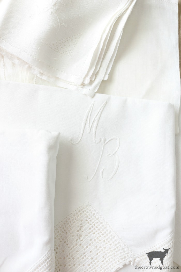 Vintage-Monogrammed-Linens-The-Crowned-Goat-1 Latest Finds from the Treasure Trail Decorating Thrifted Finds