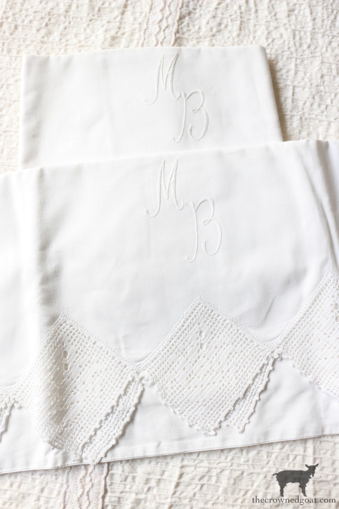 Vintage-Monogrammed-Linens-The-Crowned-Goat-2 Latest Finds from the Treasure Trail Decorating Thrifted Finds