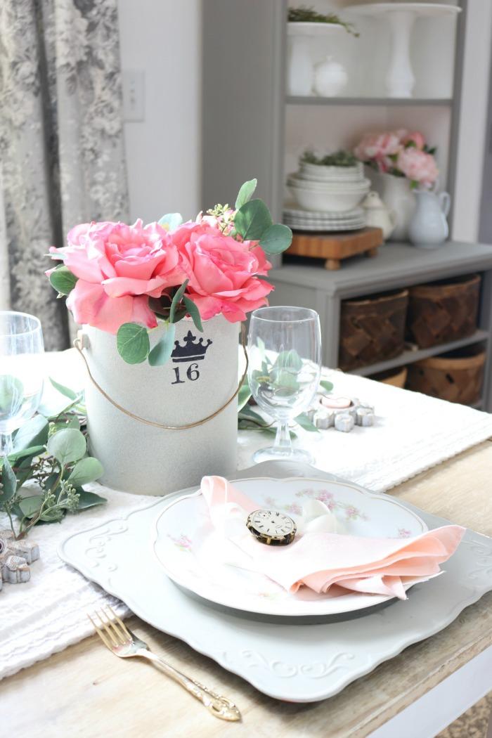 Vintage-Valentines-Day-Tablescape-Blog-Hop-The-Crowned-Goat-1 Vintage Valentine's Day Tablescape and Blog Hop Holidays Valentines