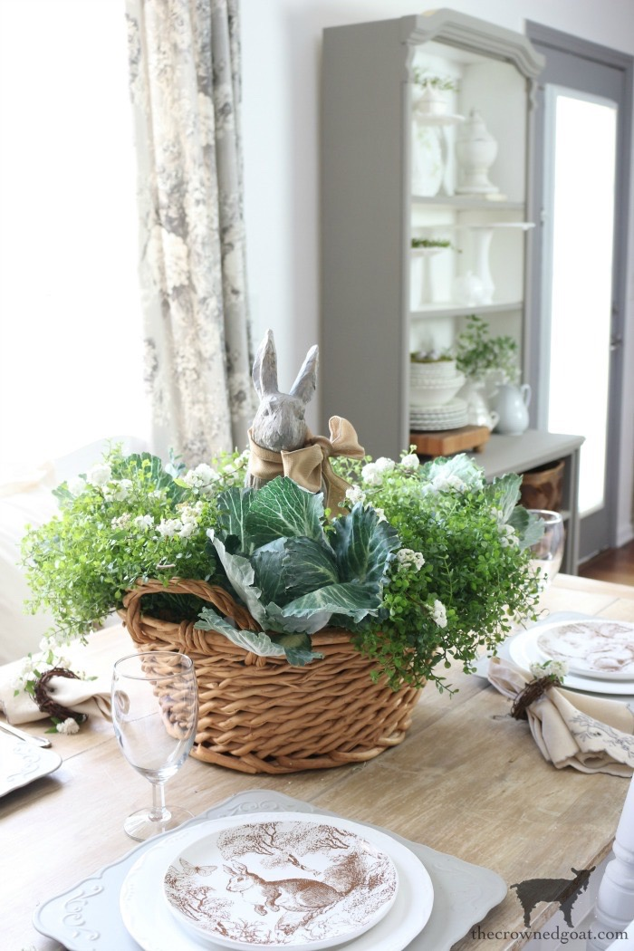 Bunny-Tablescape-The-Crowned-Goat-1 Spring Bunny Tablescape Decorating DIY Holidays Spring