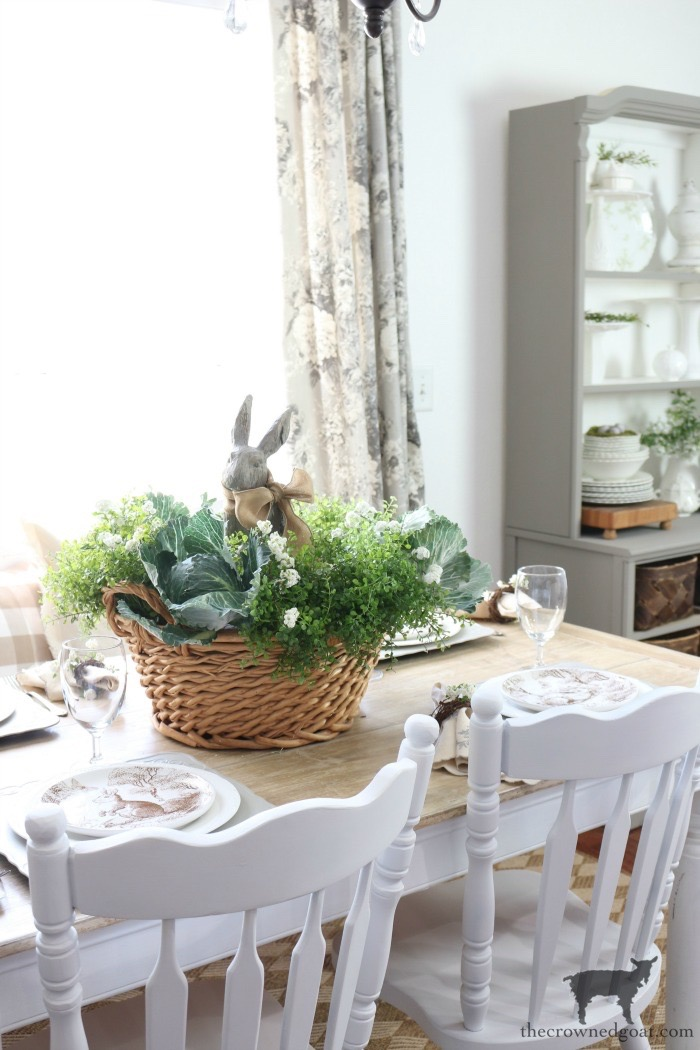 Bunny-Tablescape-The-Crowned-Goat-16 Spring Bunny Tablescape Decorating DIY Holidays Spring