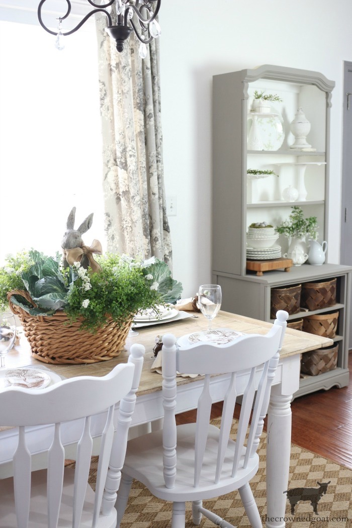Bunny-Tablescape-The-Crowned-Goat-17 Spring Bunny Tablescape Decorating DIY Holidays Spring