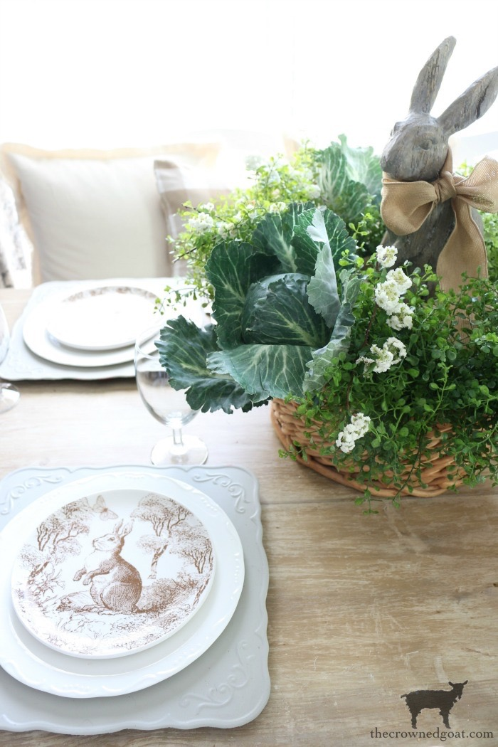 Bunny-Tablescape-The-Crowned-Goat-3 Spring Bunny Tablescape Decorating DIY Holidays Spring